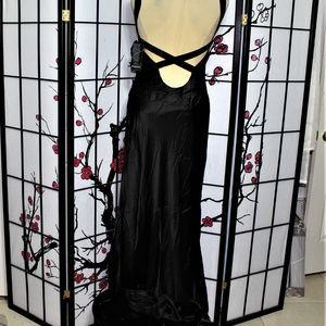 NWT SILK COCKTAIL DRESS BLACK CRUISE WEDDING 12